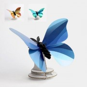 Assembli Giant Silk butterfly 3D insect-glossy caribbean green