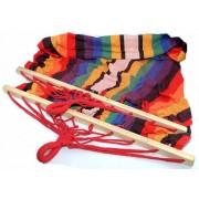 Hamac mexican pentru o persoana cu intinzatoare din lemn