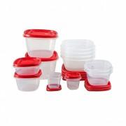 Set 12 cutii alimente, patrate, Easy Find Lids