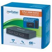 Manhattan 3 Port HDMI Switch - 3-Port, 4K@30Hz,