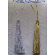 SEWING KEY TASSELS IN GLITTERING METALLIC THREAD Pack of 5
