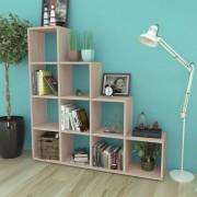 vidaXL Staircase Bookcase/Display Shelf 142 cm Oak