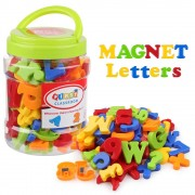 Alphabet Coogam Magnetic Letters Numbers Alphabet Fridge Magnets Plastic ABC 123 Spelling Counting Educational Toy Set for Preschool Kids