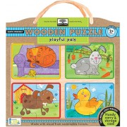 Innovative Kids Green Start Wooden Puzzles: Playful Pals (2Yrs+) Puzzle