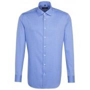 Seidensticker Overhemd Structure Check Intens Blauw / male