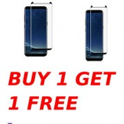 Samsung Galaxy S9 Plus 5D Black Tempered Glass Combo Deal Buy 1 Get 1 Free Standard Quality