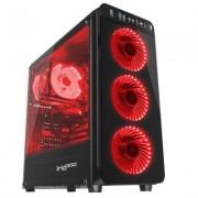 Кутия за компютър genesis irid 300 red, midi tower, 1 x usb 3.0, 2 x hd audio jack, 2 x usb 2.0, fan control, npc-1131