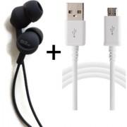 Deals Combo D1-Black USB + Earphone Headphone With Mic