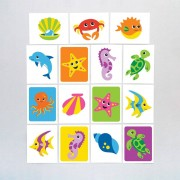 Baker Ross Sealife Buddies Tattoos (Pack of 24)