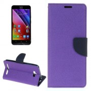 For Asus ZenFone Max / ZC550KL Cross Texture Horizontal Flip Leather Case with Holder & Card Slots & Wallet(Purple)