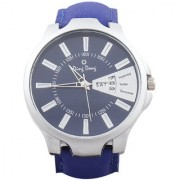 Ding Dong Analogue Day & Date Blue Dial Men's Watch-Max Blue-03