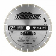 Timberline 640-370 Segmented Rim Diamond 12 Inch D 1 Inch Bore, Circular Diamond Saw Blade