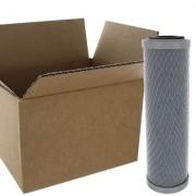 AQUAPRO Cartouche charbon bloc 10 pouces 254 mm 5 Microns - Carton de 20