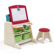 Step2 Easel Desk with Stool Flip & Doodle 836500