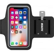 Healtic Smartphone Sportparmband - Universeel - Spatwatervrij - Zwart