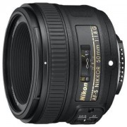 Обектив Nikon AF-S NIKKOR 50mm f/1.8G + сенник и калъф
