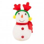 Decoratiune om de zapada cu coarne de ren Primera, cu LED-uri, 13 cm, Multicolor