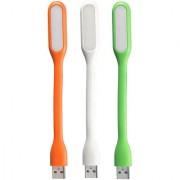 Sketchfab Combo of 3 USB Portable Flexible USB LED Light - Assorted Color