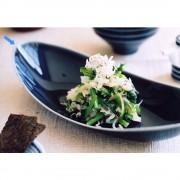 ARITA PORCELAIN LAB(アリタ・ポーセリン・ラボ)/楕円皿(小)sumi/墨ルリ|有田焼
