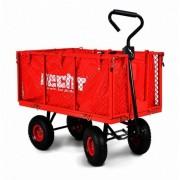 Remorca / carucior pentru tractorasele de gradina HECHT 52184, capacitate incarcare 300 kg, cu maner