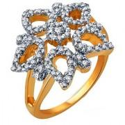 Sukkhi Glistening Gold And Rhodium Plated Cz Ring