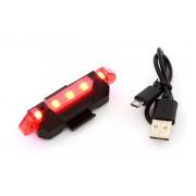 Lumini Semnalizare pentru Bicicleta cu 5 LED-uri, Incarcare USB, 4 Moduri de Iluminare
