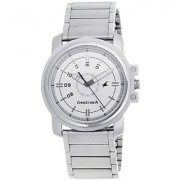 Fastrack Quartz White Dial Mens Watch-3039SM01