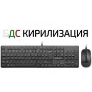 KBD, Delux KA150U+M136BU, Desktop, USB, Black