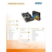 MSI H110M PRO-VD PLUS s1151 H110 2DDR4 USB 3.1 uATX