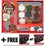 Slice & Bake Cookies Set Play Food Set + Free Melissa & Doug Scratch Art Mini Pad Bundle [40747]