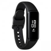 Фитнес гривна Samsung SM-R375N Galaxy Fit Е, акселерометър, сензор за сърдечен ритъм, Bluetooth v5.0, за Android, черна, SM-R375NZKABGL