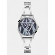 Guess Stalen Horloge Met Driehoek-Logo