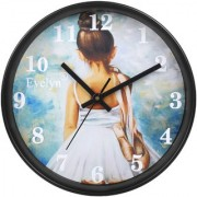 Evelyn Round Design Wall Clock For Office Bed Room Lobby Kitchen Stylish Girls Wall Clocks Morden Design- Evc-05