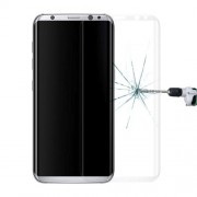 For Samsung Galaxy S8 Plus / G9550 0.3mm 9H Surface Hardness 3D Curved Surface Silk-screen Full Screen Tempered Glass Screen Protector Small Quantity Recommended Before Samsung Galaxy S8 Plus / G9550 Launching (Translucent)