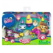 Littlest Pet Shop Cutest Pets Goodies & Gifts Party with Rat 2489, Ferret 2490 and Guinea Pig 2488
