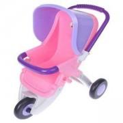 Детска играчка, Количка за кукли с три колела в розово и лилаво, 411056