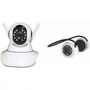 Mirza Wifi CCTV Camera and Mini 503 Bluetooth Headset for SAMSUNG GALAXY MEGA 2(Wifi CCTV Camera with night vision  Mini 503 Bluetooth Headset )