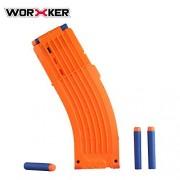 JGCWorker Modulus 15-Dart Banana Clip for Nerf N-Strike Elite Blaster Color Orange