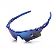 Gafas De Deporte Al Aire Libre Gafas De Equitación Unisexo -Azul