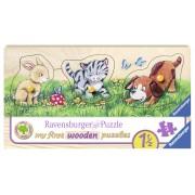 PUZZLE DIN LEMN ANIMALUTE, 3 PIESE - RAVENSBURGER (RVSPC03203)