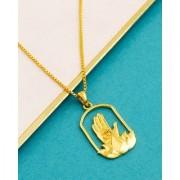 Dare by Voylla Lotus Gold Plated Pendant & Chain From Spiritual Saga