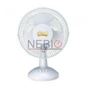 Ventilator de birou Victronic, 2 viteze, 20 W, Alb