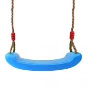 Generic Outdoor Swing Set 4CM Thick Seat with Adjustable Ropes Playground Accs Blue