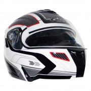Gdr Casco Abatible GDR Aero Rider Blanco con Gris Extra Grande