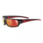 Uvex Occhiale sole Uvex Sportstyle 211 (Colore: black-red, Taglia: UNI)