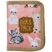 Pick & Pack Pick & Pack Plånbok Cute Animals, Pink