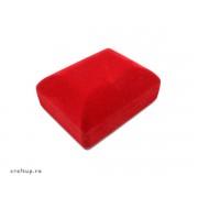 Cutie bijuterii catifea, dreptunghiulară, pentru colier - roșu (set 10 buc)