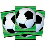 Football Gift Bags - 8 Party Bags For Kids Football Birthday Parties. Loot Bags For Parties. Size 18 x 22 cm.