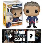 Twelfth Doctor: Funko POP! x Doctor Who Vinyl Figure + 1 FREE Official Dr Who Trading Card Bundle [46309]