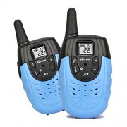 Walkie Talkies for Kids Rechargeable Two Way Radios for Kids Long Range Ham Radio Handheld Gift for Boys Children Kid's Toys and Games Long-range Up to 2 Miles Luiton LT-A7 Blue (1 pair)